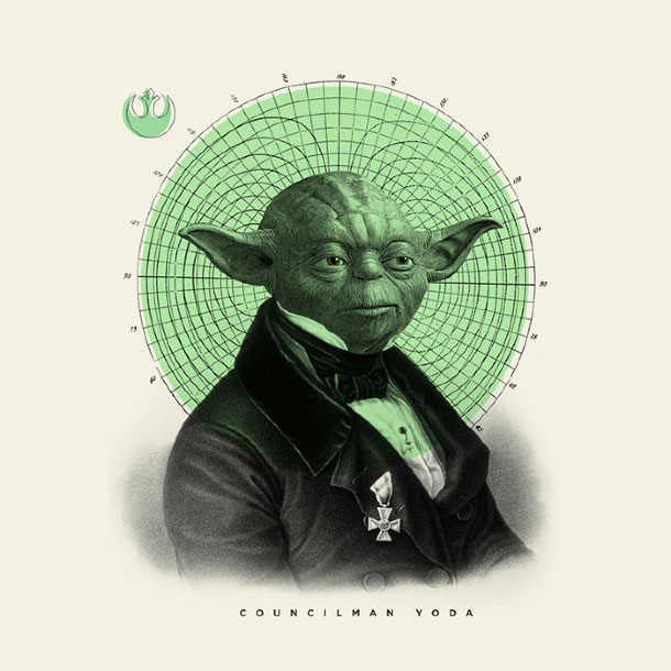 Yoda Character Design : Old timey star wars illustrations