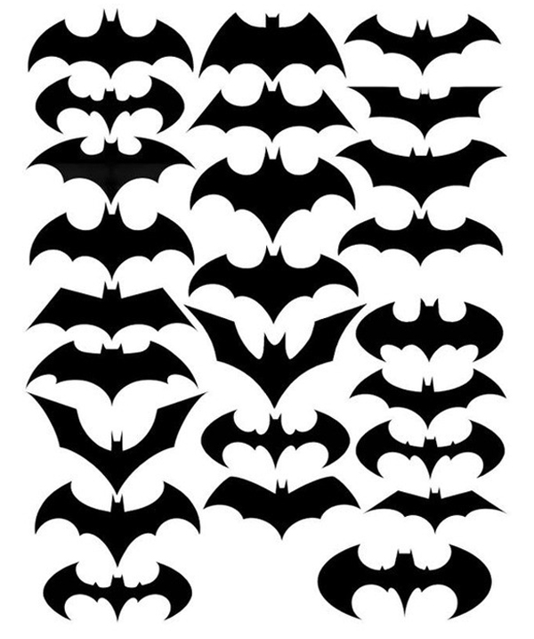Batman symbol and all of its variations