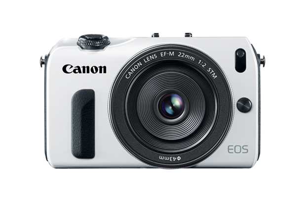 White Canon Mirrorless EOS M Camera