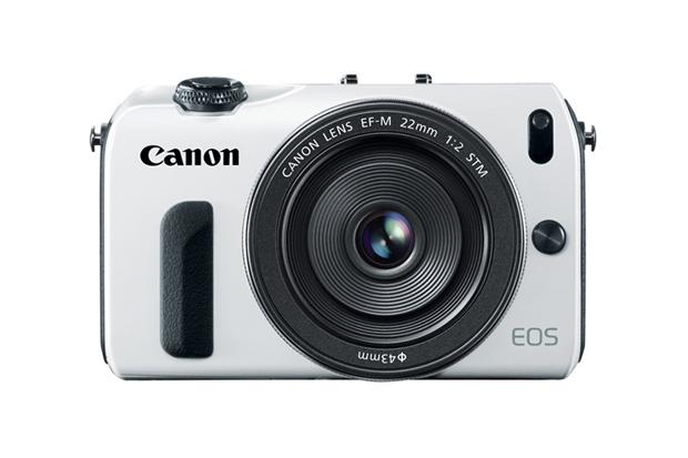 White Canon Mirrorless EOS M Camera