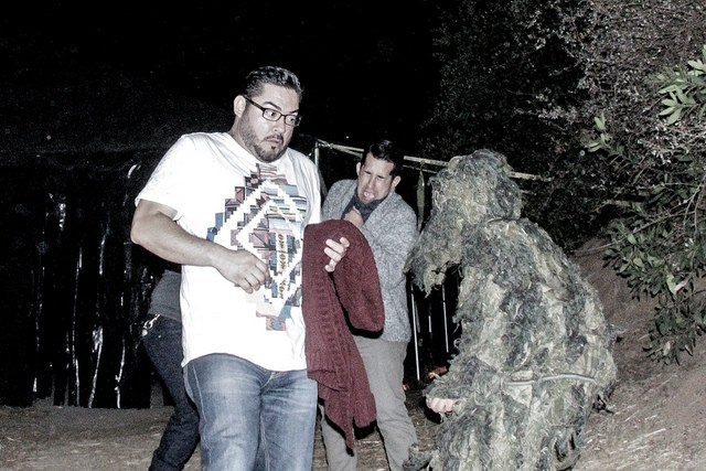 Scared Hipsters at LA Haunted Hayride