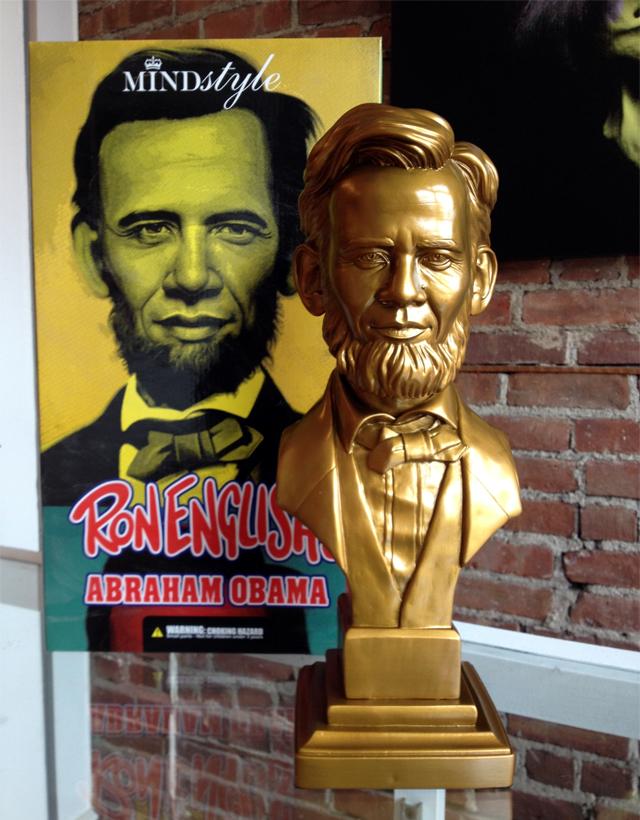 Ron English Abraham Obama