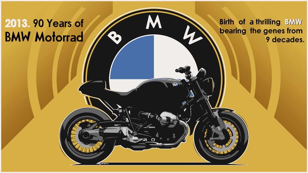 BMW 90 years Motorrad Sketch