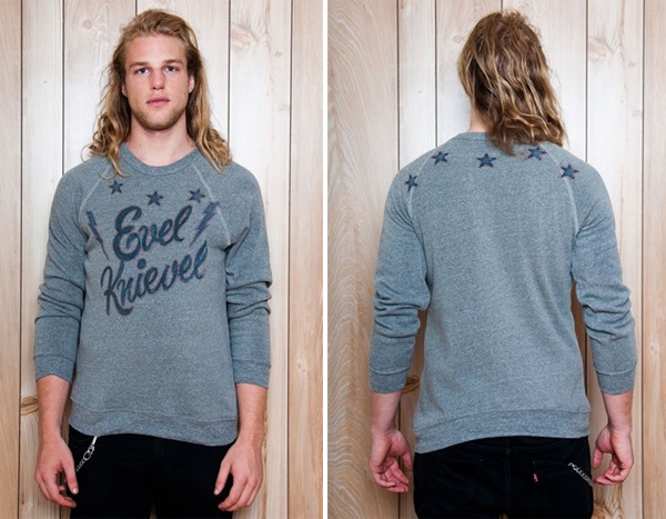 Evel Knievel Crew Neck Sweatshirt