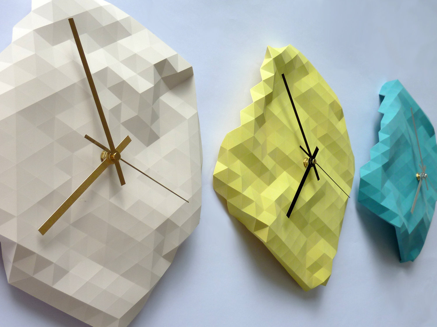 Faceted Wall Clocks