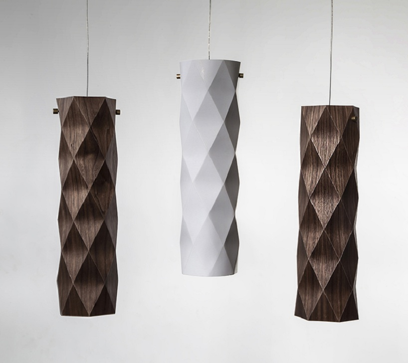 """Folded"" Lighting Series by Ariel Zuckerman"