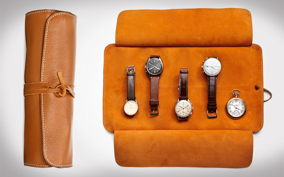 Travelteq Leather Watch Roll