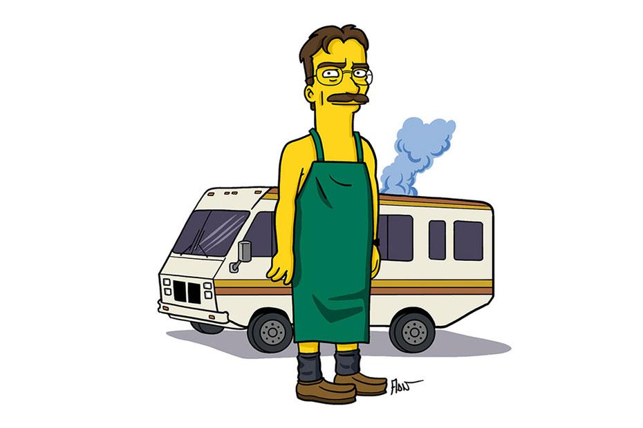 'Breaking Bad' Characters Simpsonized By Adrien Noterdaem