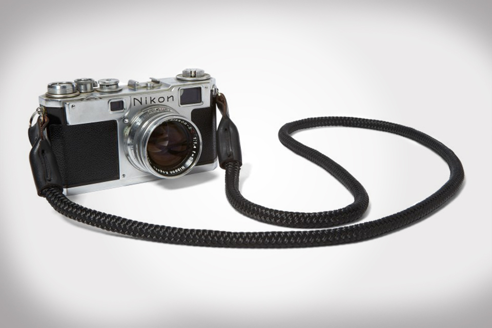Killspencer Black Bridle Leather + Paracord Camera Strap