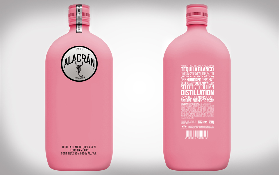 Alacran Tequila Limited Edition Pink Bottle