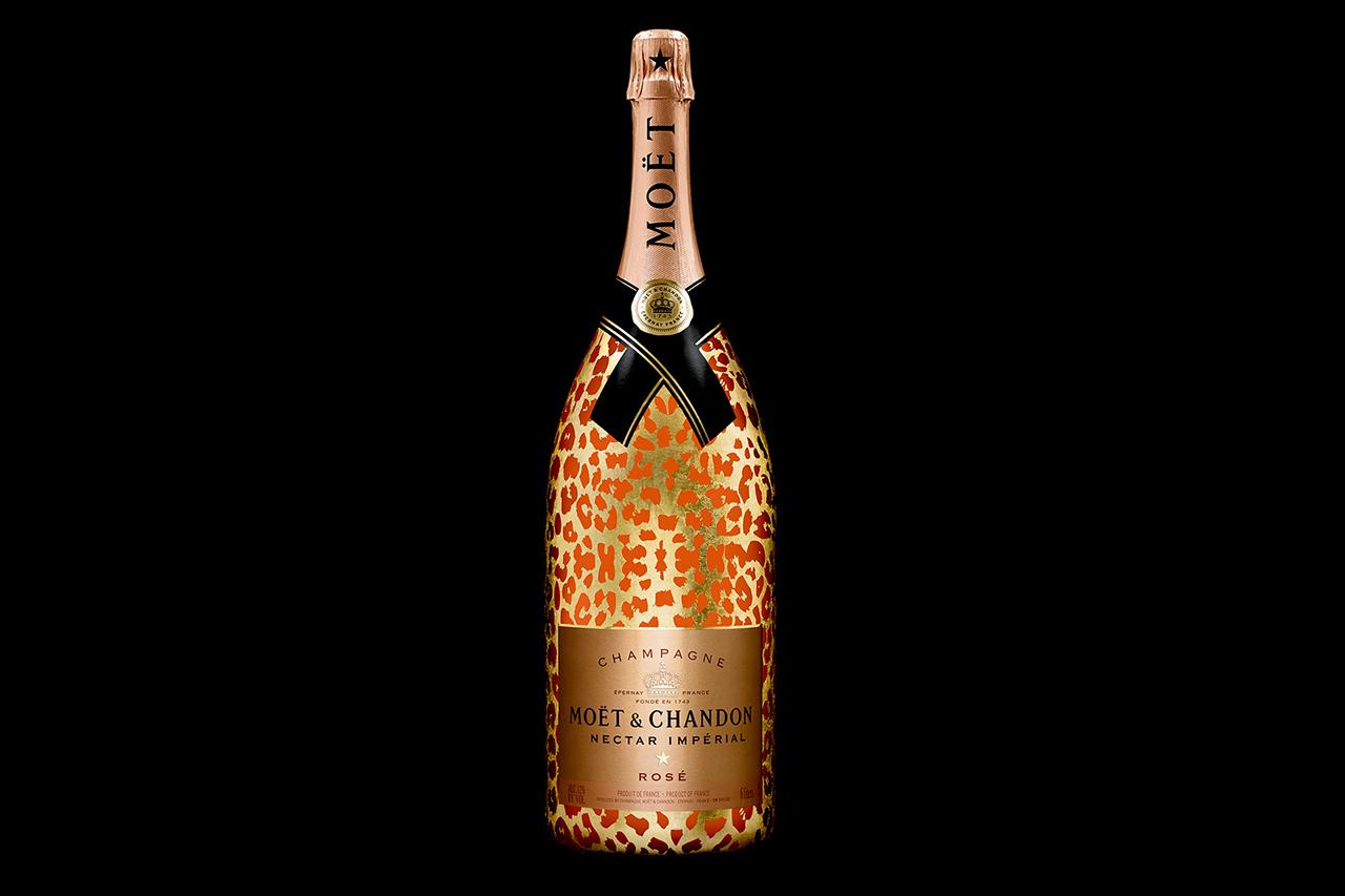 Moët & Chandon Moët Nectar Impérial Rosé Leopard Luxury Edition Methuselah Bottle