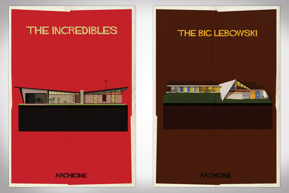 Federico Babina Reimagines Famous Movie Homes