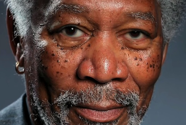 Morgan Freeman Finger Painting