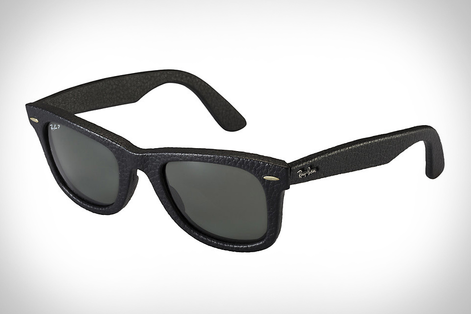Ray-Ban Wayfarer Leather Sunglasses