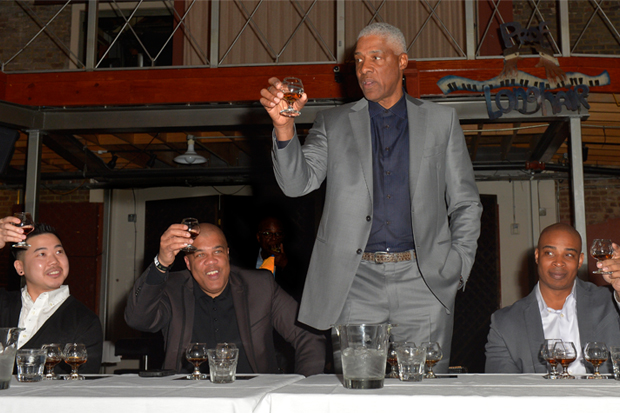 Dr. J toasting with Crown Royal XO