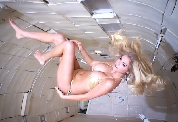 Kate Upton Zero Gravity for 2014 Sports Illustrated Swimsuit