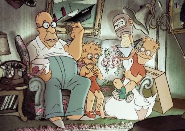 Sylvain Chomet Couch Gag for Simpsons