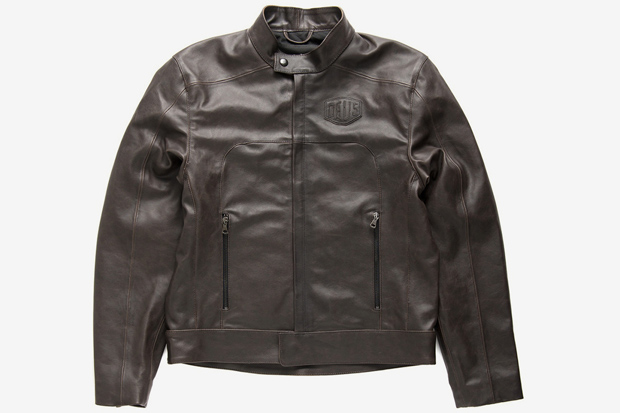 DEUS X DAINESE LEATHER RIDING JACKET - DARK BROWN