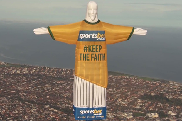 SportsBet's Christ the Redeemer Hot Air Balloon Stunt