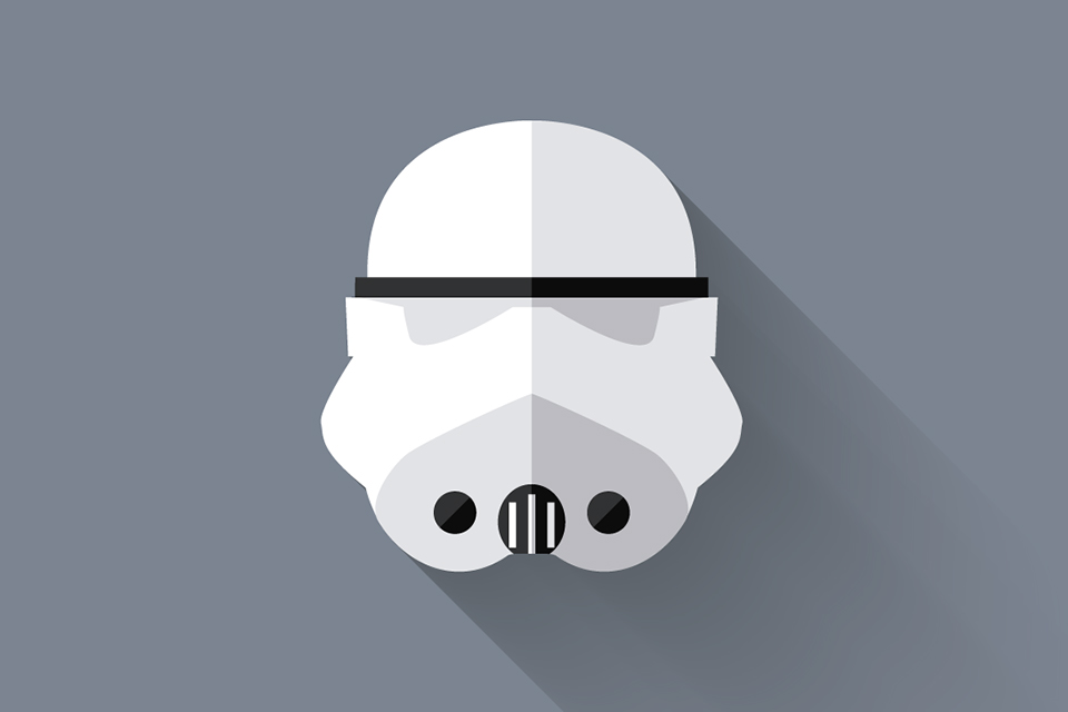 Storm Trooper - Star Wars Long Shadow Flat Design Icons