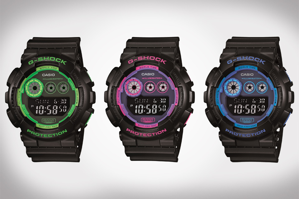 Casio G-Shock Neon Colorways