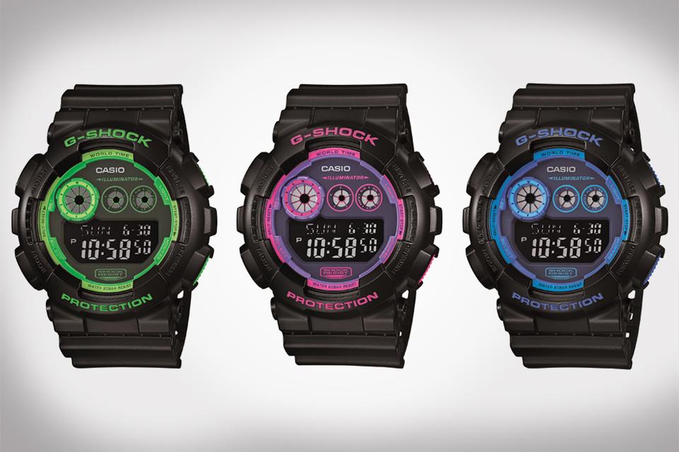 Casio G-Shock Neon Colorways