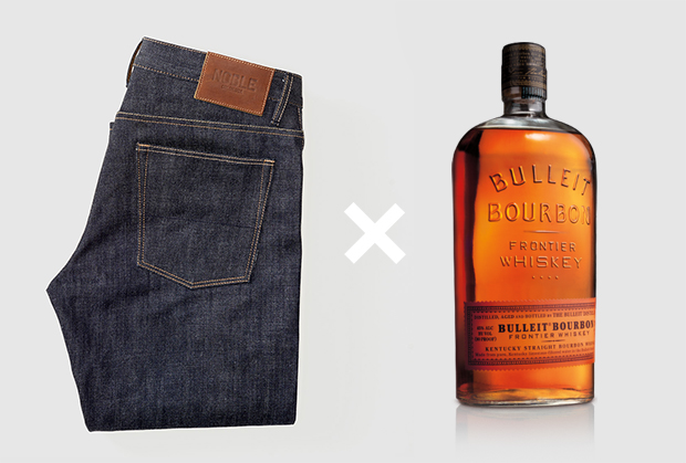 Noble Denim + Bulleit Bourbon Collaboration
