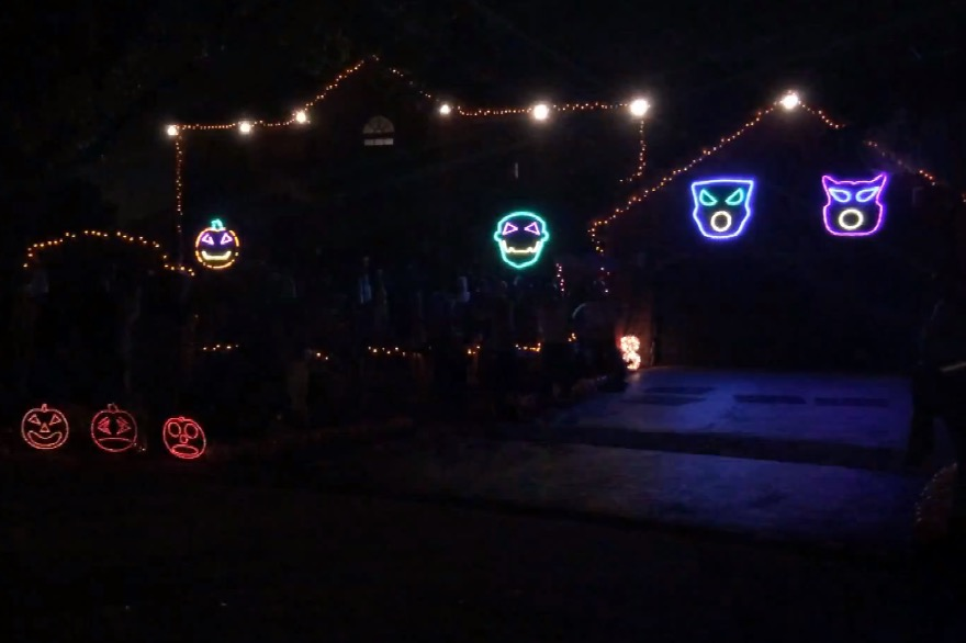 Thomas Halloween Light Show