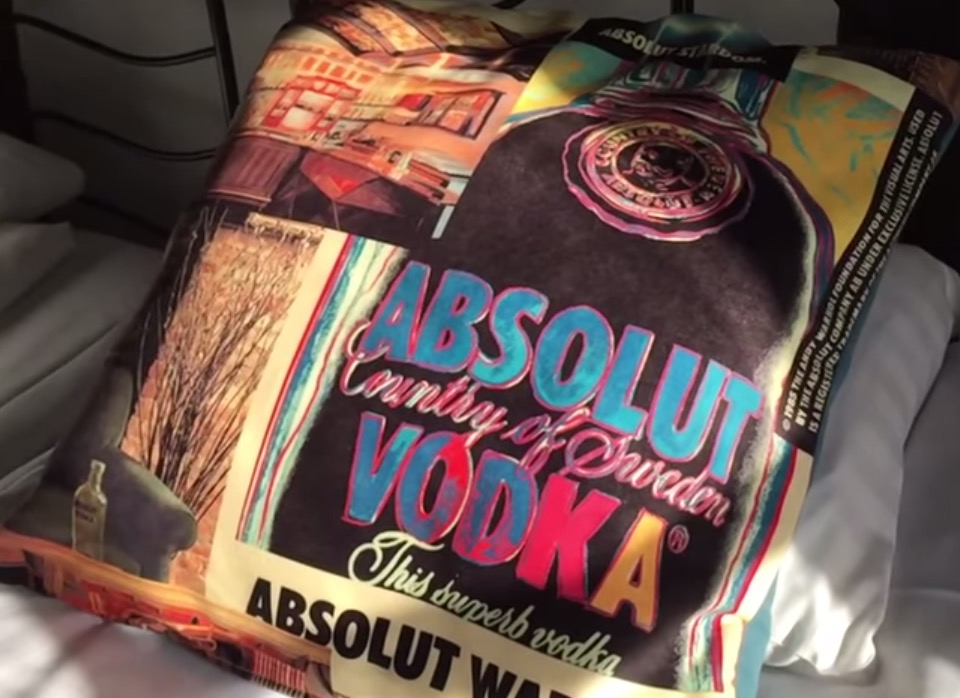 Absolut Vodka Pillows