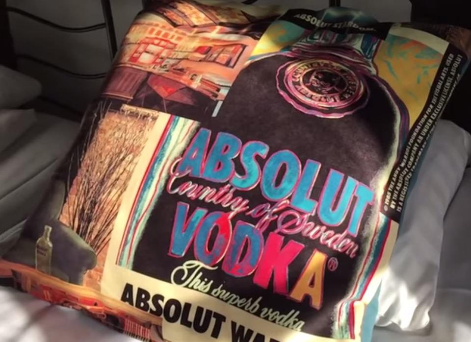 Absolut Vodka Pillows