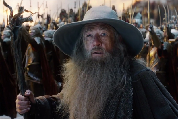 Gandalf the Wizard in The Hobbit: The Battle of the Five Armies