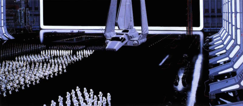 Star Wars Background Painting: Docking Bay Storm Troopers