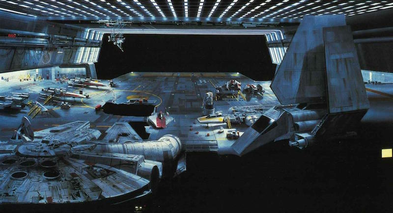 Star Wars Background Painting: Docking Bay
