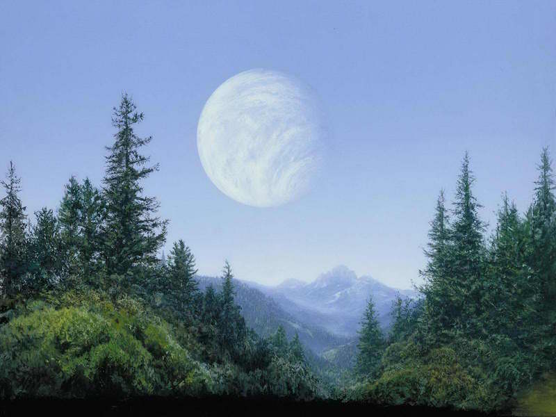 Star Wars Background Painting: Endor Planet