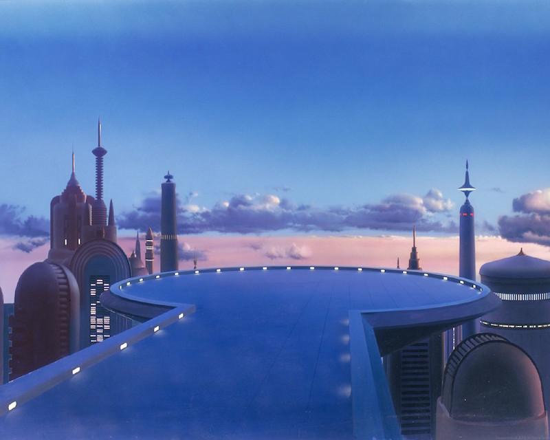 Star Wars Background Painting: Landing Platform