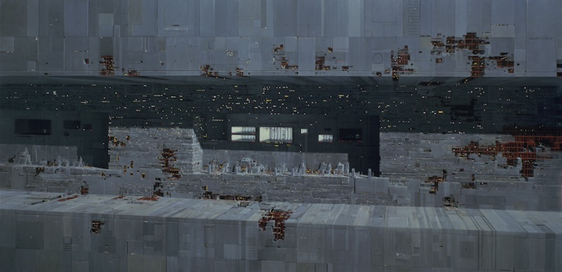 Star Wars Background Painting: Death Star Exterior