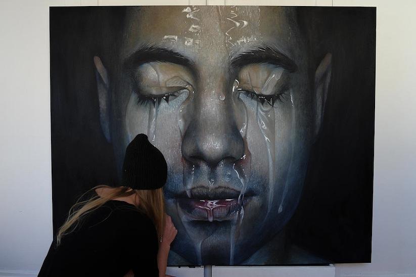 """""""Faces"""" – Hyperrealistic Oil Paintings by Erica Elan Ciganek"""