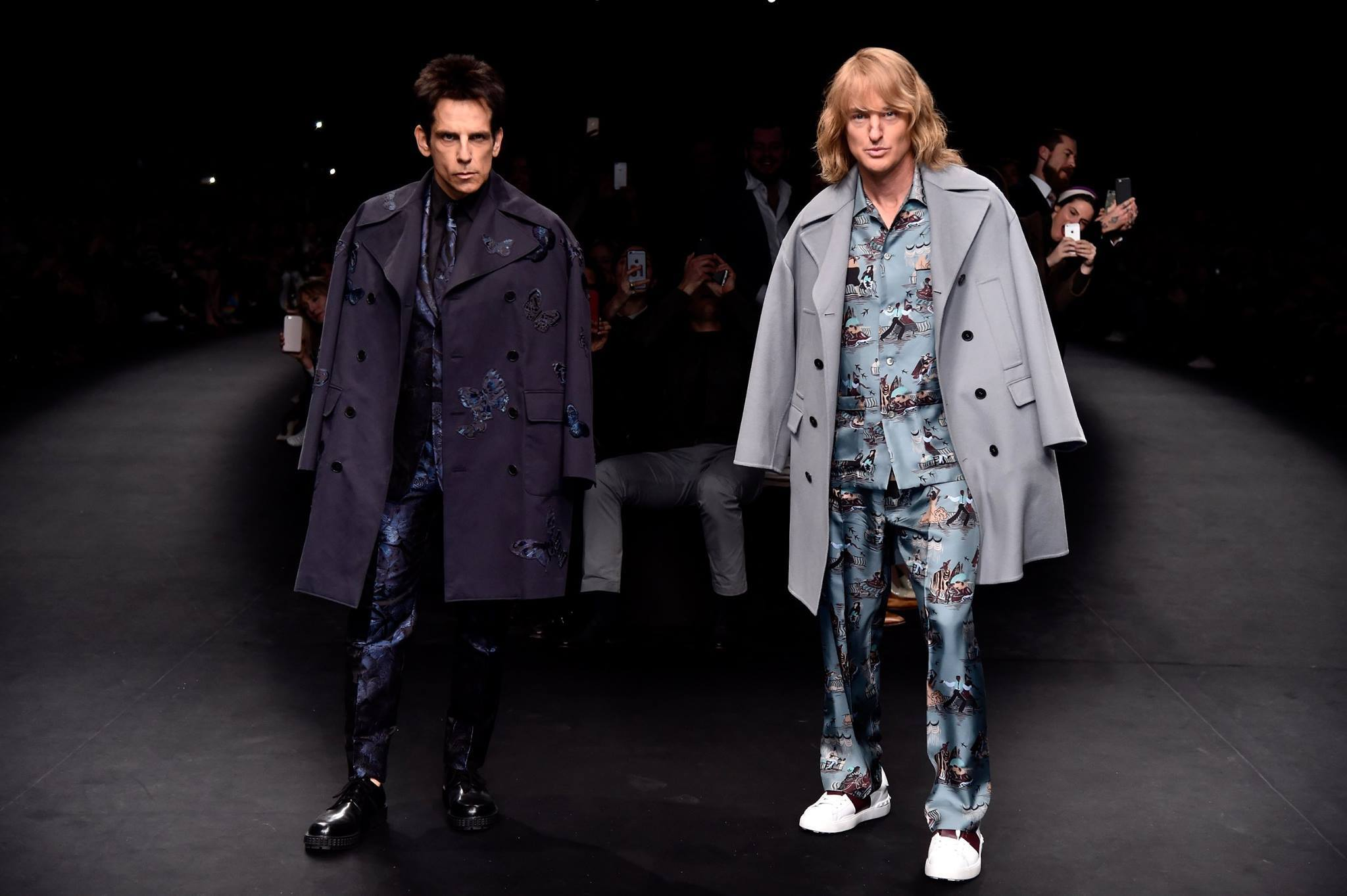 Derek Zoolander and Hansel walk the Valentino Runway