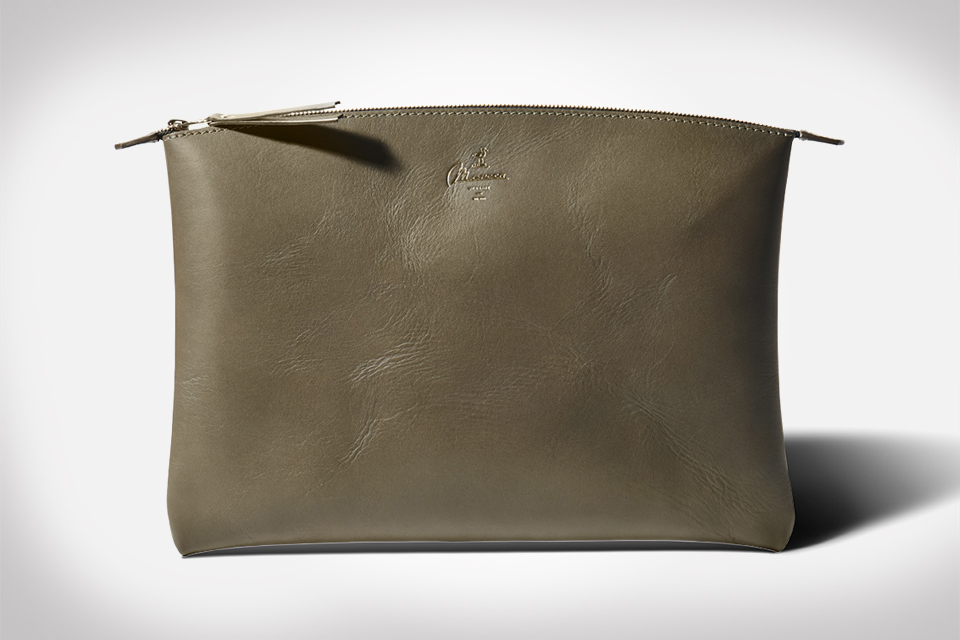 OLIVGRUN Leather Laptop Pouch by Moreca