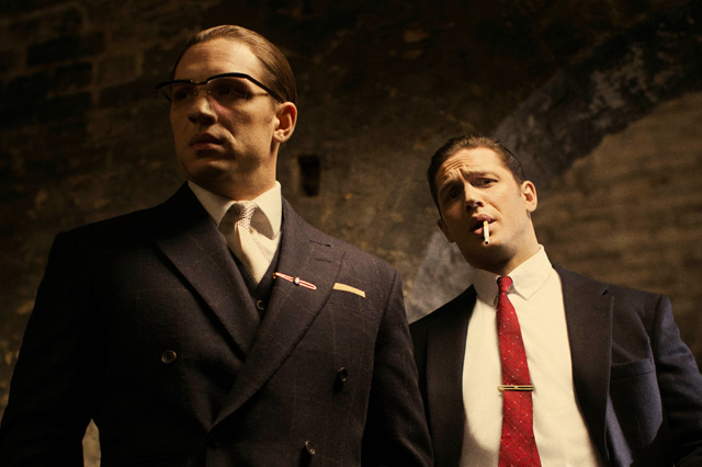 Tom Hardy as a twin in 'Legend' Movie