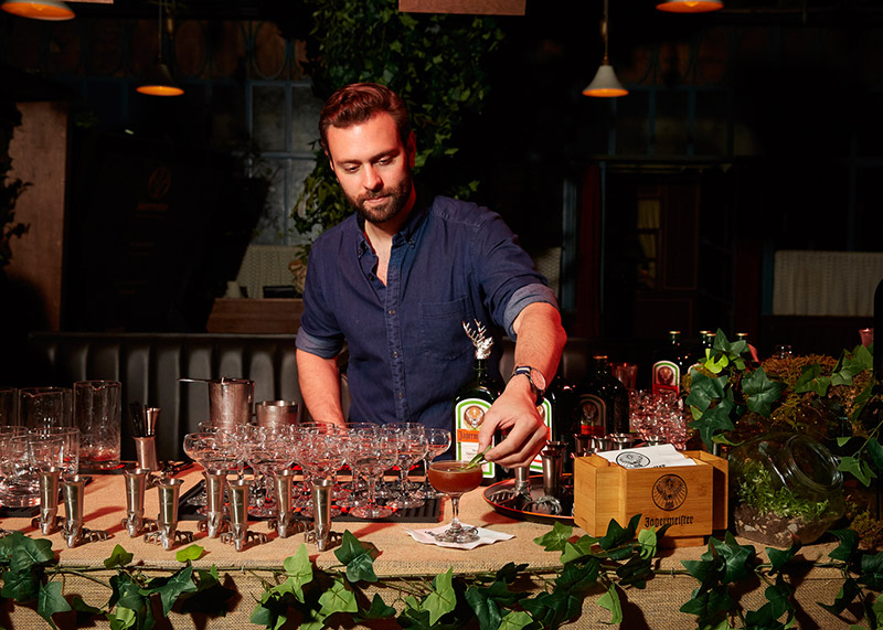 Tyson Buhler Making his #56Parts Cocktail