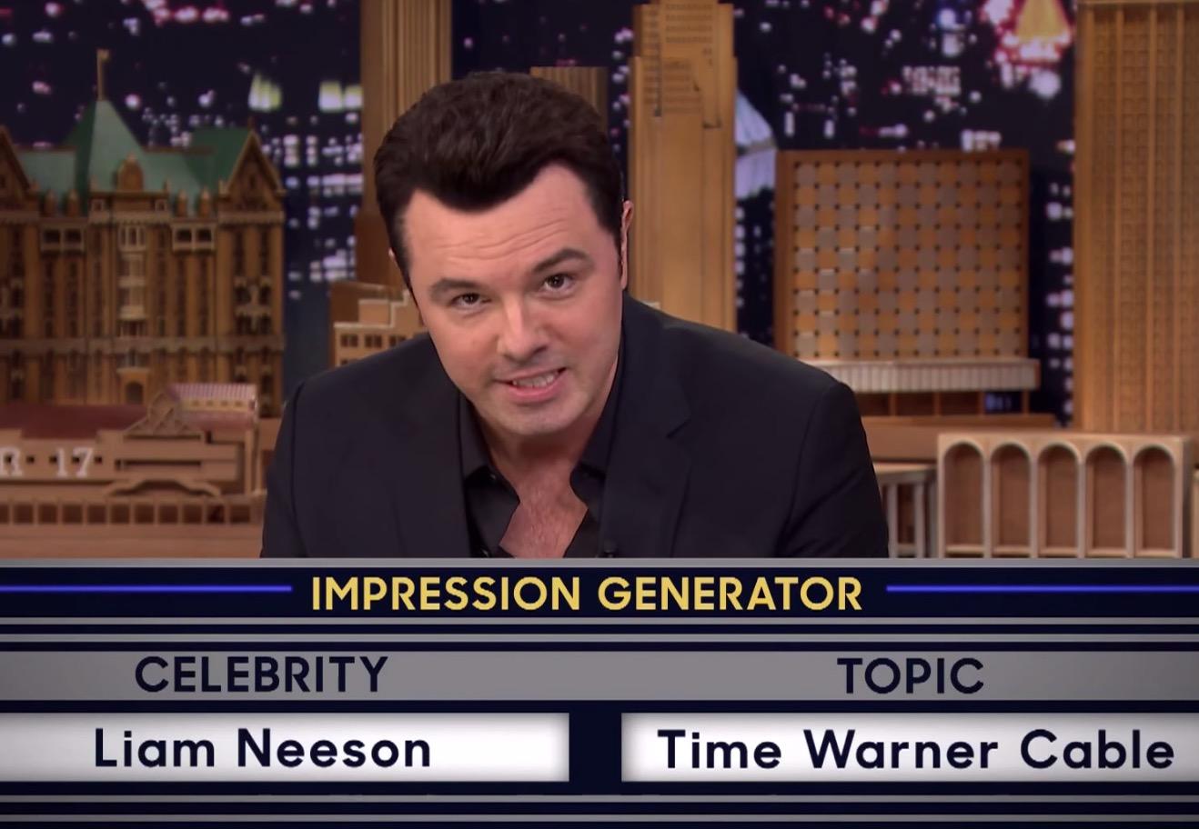 Seth MacFarlane Impersonates Liam Neeson