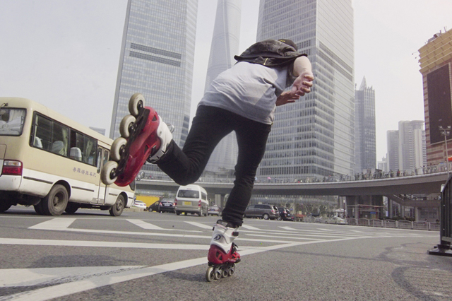 Touring Through Shanghai on Rollerblades