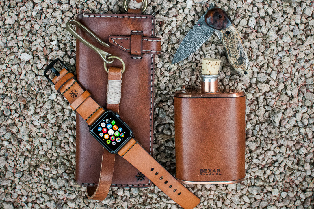 Leather Apple Watch Strap by Bexar