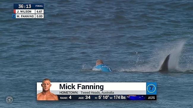 Mick Fanning Shark Attack at 2015 J-Bay Open