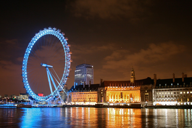The Coca-Cola London Eye at Night