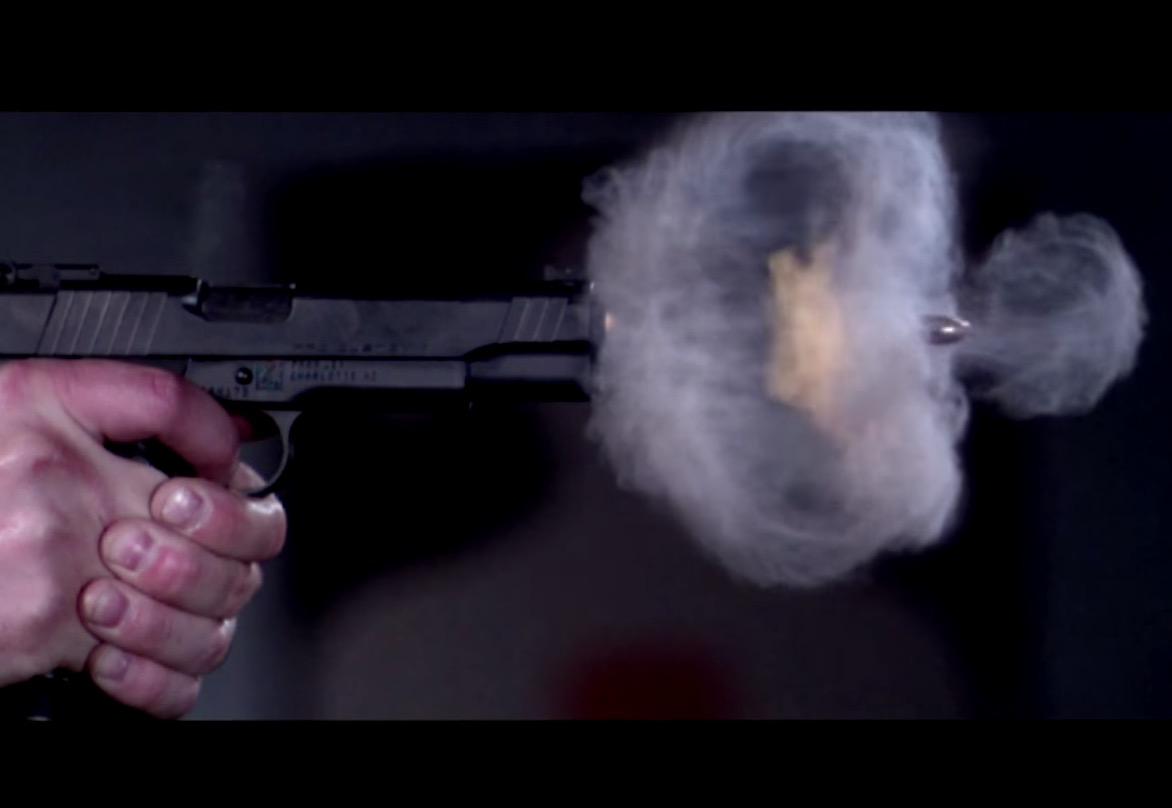 Pistol Shot Recorded at 73,000 FPS