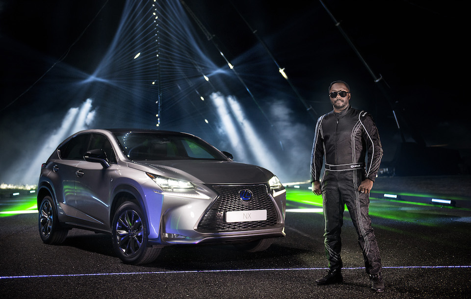 will.i.am and Lexus create laser and sound spectacular on epic street stave #NXontrack n2