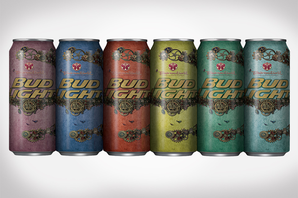 Bud Light Limited Edition TomorrowWorld Festival Cans