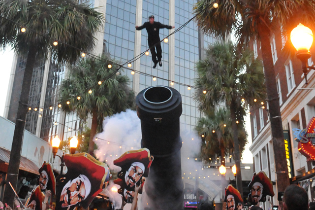 Human Cannonball at the Cannon Ball Blast Launch